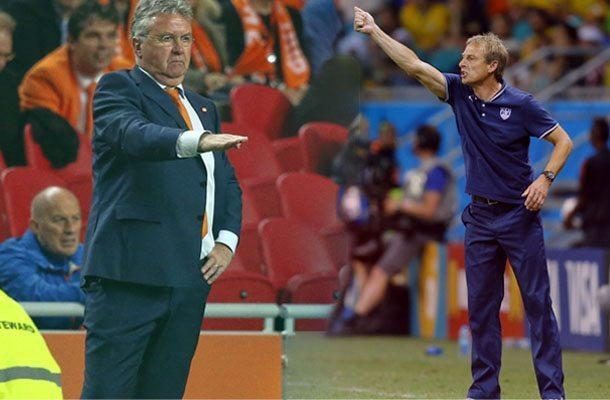 Klinsmann en Hiddink