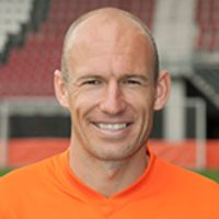 Portretfoto Arjen Robben Nederlands elftal