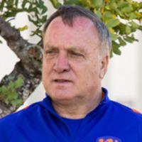 Portretfoto Dick Advocaat Nederlands elftal