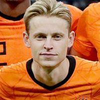 Portretfoto Frenkie de Jong Nederlands elftal