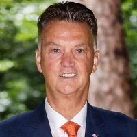 Portretfoto Louis van Gaal Nederlands elftal